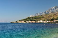 Adriatic sea at Podgora in Croatia Stock Photos