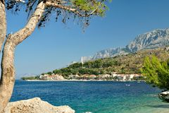 Adriatic sea at Podgora, Croatia Royalty Free Stock Photos