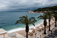 Adriatic sea at Podgora in Croatia before the storm Royalty Free Stock Image