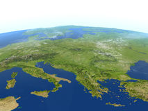 Adriatic sea region on planet Earth. Adriatic sea region. 3D illustration with detailed planet surface. Elements of this image furnished by NASA Royalty Free Stock Image