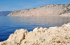 Adriatic sea, rocky coast Royalty Free Stock Photography