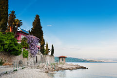 Adriatic Sea scenic view. Opatija, Croatia Royalty Free Stock Images