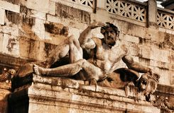 Fragment of Victor Emmanuel monument Royalty Free Stock Image