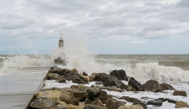 The Adriatic Sea in storm Stock Images