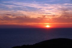 Adriatic Sea sunset Stock Photo