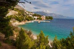 Adriatic Sea at sunset - Makarska Riviera, Croatia Royalty Free Stock Photography