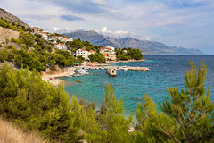 Adriatic sea at sunset - Makarska Riviera Dalmatia Croatia Royalty Free Stock Photos