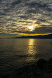Adriatic Sea Sunset Stock Images