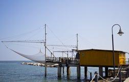Adriatic Sea Trabucco Stock Images