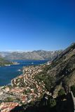 Adriatic sea, transparent water in the Bay of Kotor Stock Image