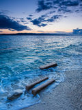 Adriatic Sea. View of Adriatic Sea in Baska Voda Royalty Free Stock Photo
