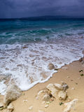 Adriatic Sea. View of Adriatic Sea in Baska Voda Stock Photo