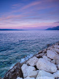 Adriatic Sea. View of Adriatic Sea in Baska Voda Stock Image