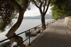 Adriatic Sea. View from the town of Cavtat, Croatia Royalty Free Stock Image