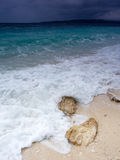 Adriatic Sea. Water and stone in Baska Voda Stock Photography