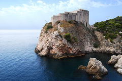 Adriatic seacoast. From above view in summer royalty free stock photography