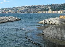 Adriatic seashore in autumn season at Naples. Stock Images