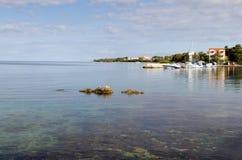 Adriatic Seaside. Beautiful Adriatic coast near Zadar, Croatia Royalty Free Stock Image