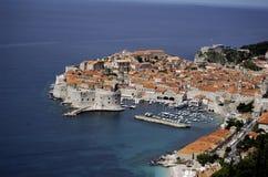 adriatic stadskust gammala dubrovnik Royaltyfri Bild