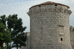 Adriatic stone tower. Stone tower on Krk, Croatia Royalty Free Stock Images