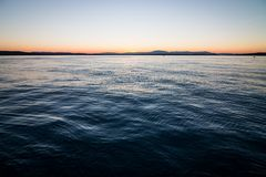 Adriatic sunset Stock Photography