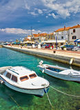 Adriatic town of Biograd na moru waterfront Royalty Free Stock Photography
