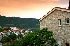 Adriatic town dawn Royalty Free Stock Images