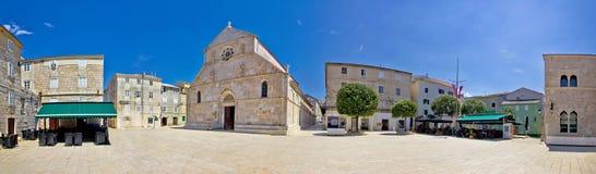 Adriatic town of Pag square panorama Stock Photos