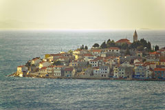 Adriatic Town of Primosten on sea Stock Photo