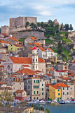 Adriatic town of Sibenik waterfront Royalty Free Stock Images
