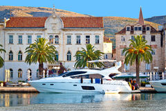 Adriatic town of Trogir seafront view Royalty Free Stock Images
