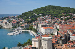 Adriatic town view with harbor Stock Image