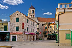 Adriatic Town of Vodice, Croatia. Adriatic Town of Vodice promenade, Croatia Stock Images