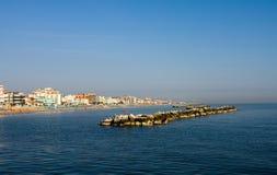 Adriatisch kustlandschap Royalty-vrije Stock Afbeeldingen