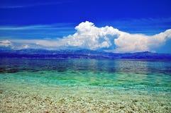 Adriatisch strand Stock Afbeelding