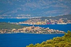 Adriatische Archipelansicht Trogir-Bucht Stockfoto