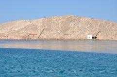 Adriatische felsige Küste in Dalmatien Stockbild