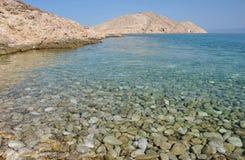 Adriatische felsige Küste in Dalmatien Stockfotos