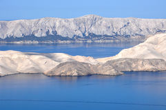 Adriatische felsige Küste in Dalmatien Lizenzfreie Stockfotos