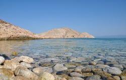 Adriatische felsige Küste in Dalmatien Lizenzfreie Stockfotografie