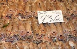 Adriatische Garnelen in Venedig Stockbild