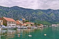 Adriatische Hafenansicht Stockfotografie