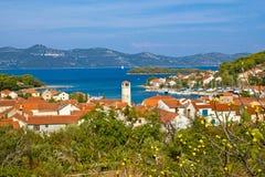 Adriatische Inselansicht Veli Izs Stockfotografie