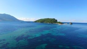 Adriatische Inseln von Montenegro stock video
