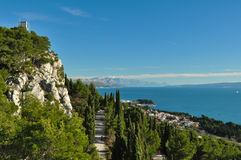 Adriatische Küste Stockfotos