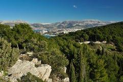 Adriatische Küste Stockfoto