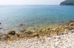 Adriatische Küste in altem Budva, Montenegro Lizenzfreie Stockbilder