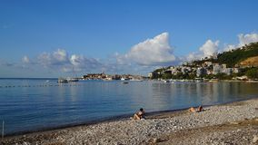 Adriatische Küste in Budva, Montenegro Lizenzfreies Stockbild