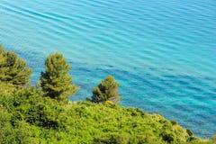 Adriatische Küste des Sommers See Stockbild