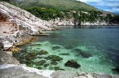 Adriatische Küste in Dubrovnik Stockfotografie